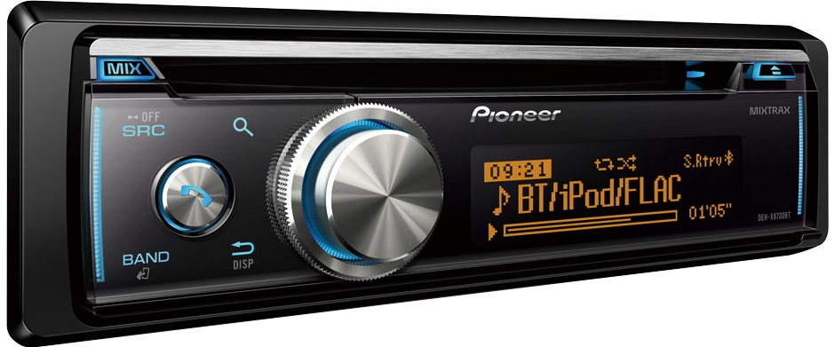 Pioneer dehx8700bt car stereo with bluetooth cd usb and auxin 5